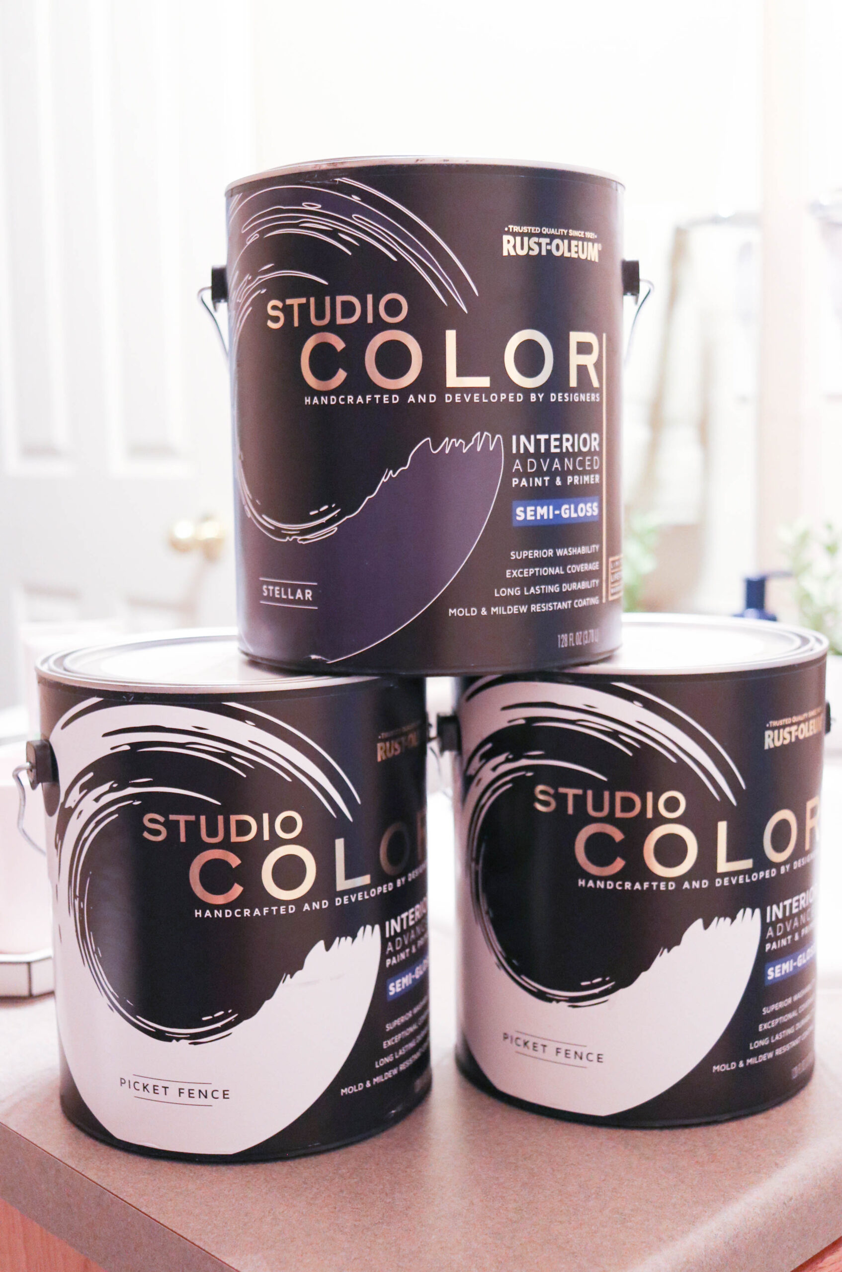 rustoleum studio color wall paint interior paint diy #diy #sponsored