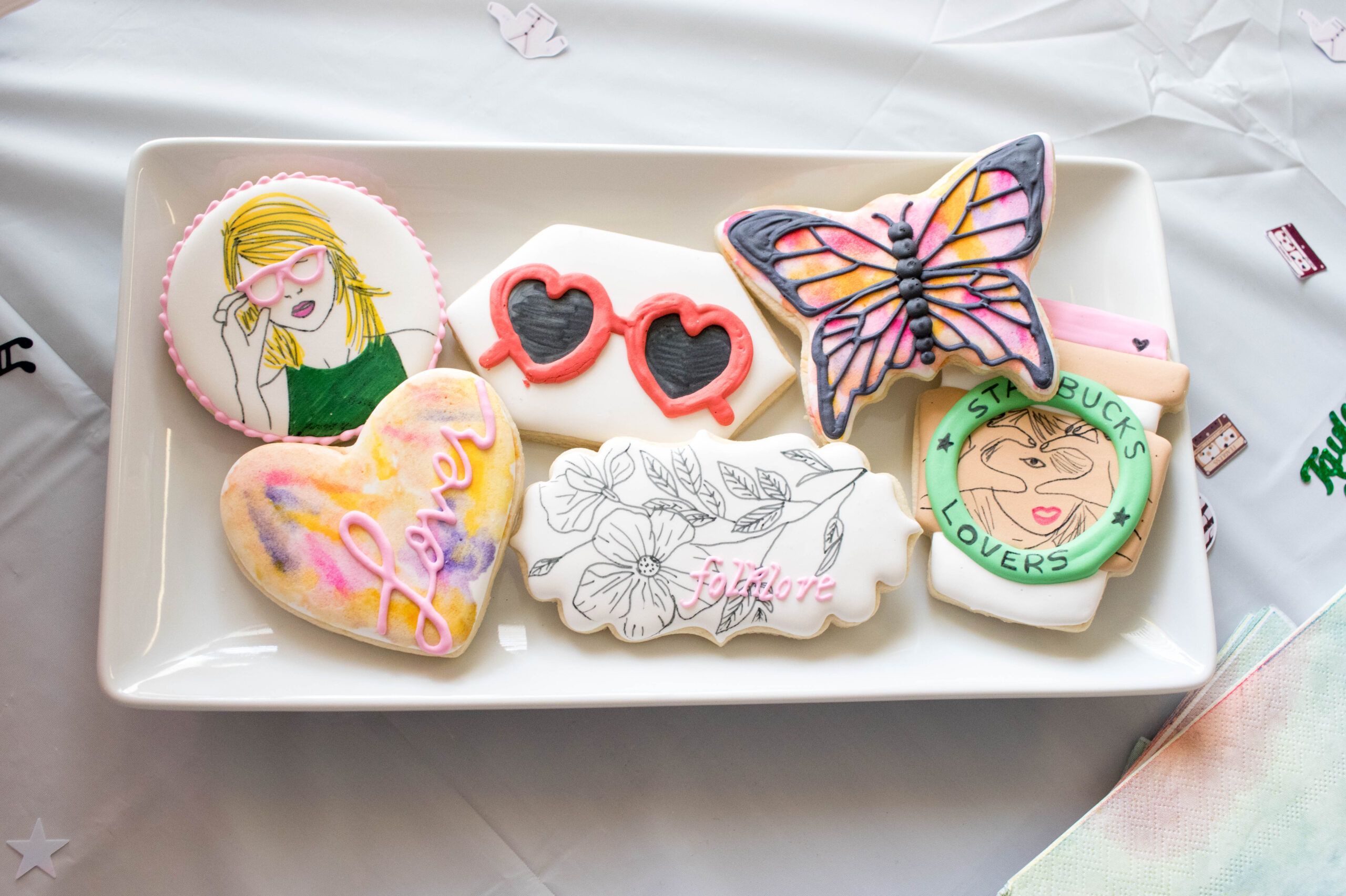 Taylor swift themed cookies birthday party #taylorswiftcookies #taylorswiftfan #swiftie