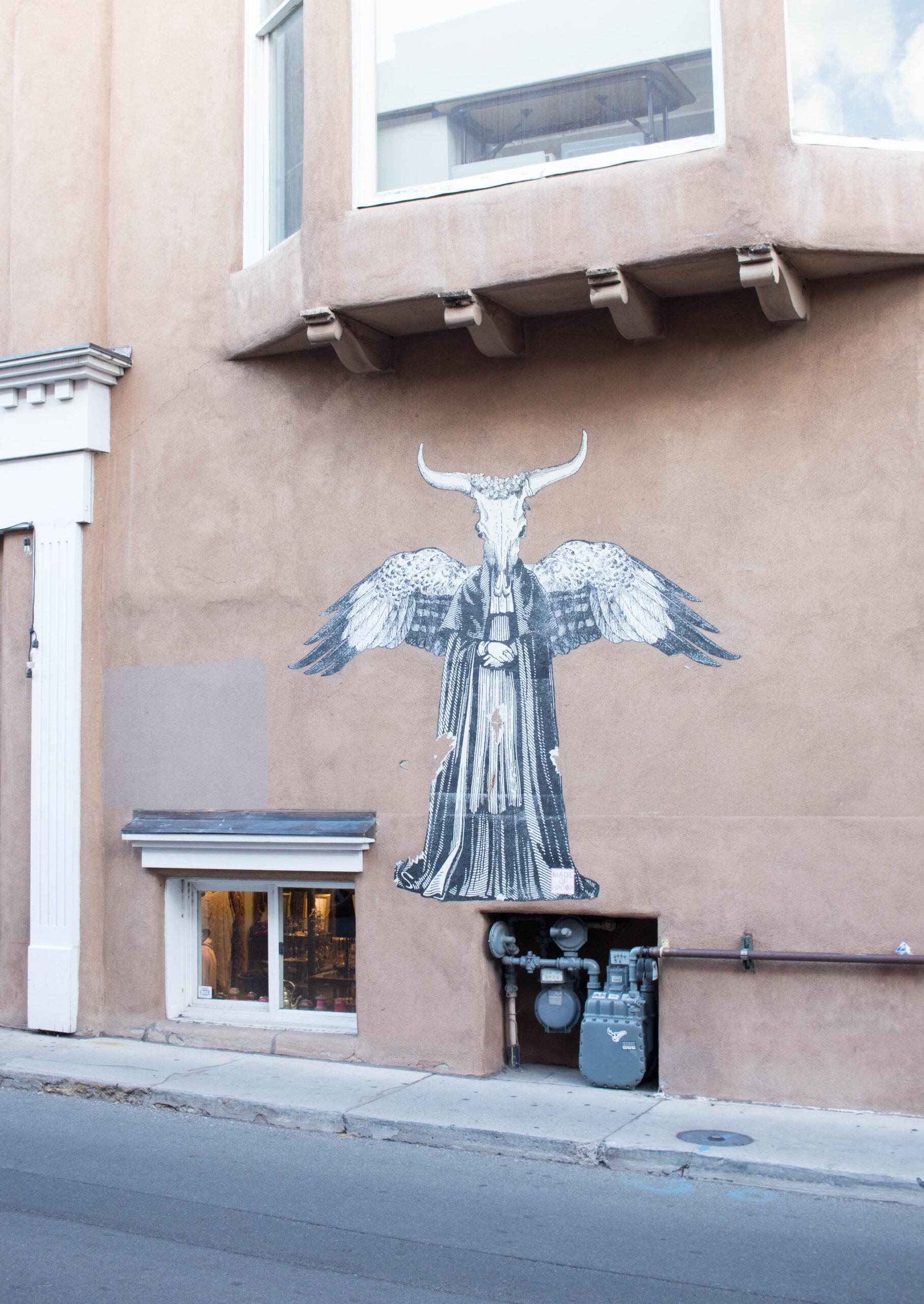 street art in Santa Fe #streetart #santafe #southwestart